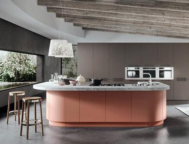 Итальянская кухня Progetto sistema laccato curvo 01 фабрики AR-TRE