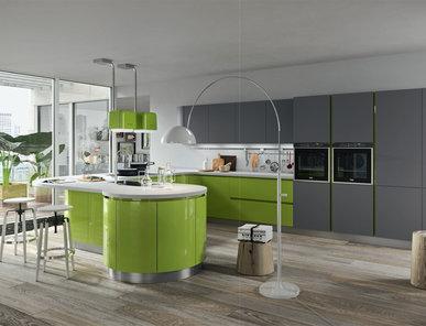 Итальянская кухня Progetto sistema laccato curvo 02 фабрики AR-TRE
