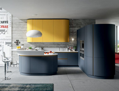 Итальянская кухня Progetto sistema laccato curvo 04 фабрики AR-TRE