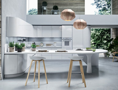 Итальянская кухня Progetto sistema laccato curvo 05 фабрики AR-TRE