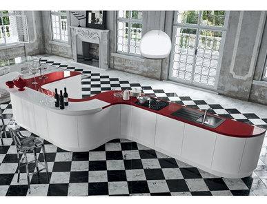 Итальянская кухня Progetto sistema laccato curvo 06 фабрики AR-TRE