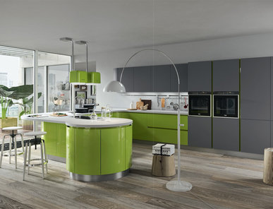 Итальянская кухня Progetto sistema legno 02 фабрики AR-TRE