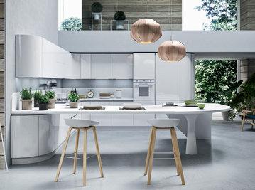 Итальянская кухня Progetto sistema legno 05 фабрики AR-TRE