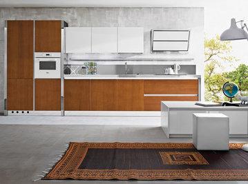 Итальянская кухня Progetto sistema legno 06 фабрики AR-TRE