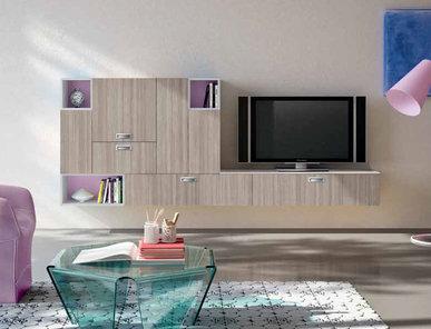 Итальянская мебель для ТВ Flick 01 фабрики SPAGNOL CUCINE