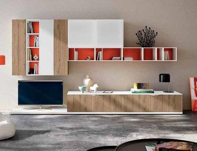 Итальянская мебель для ТВ Smart 01 фабрики SPAGNOL CUCINE