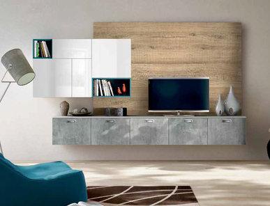 Итальянская мебель для ТВ Xoxo 01 фабрики SPAGNOL CUCINE