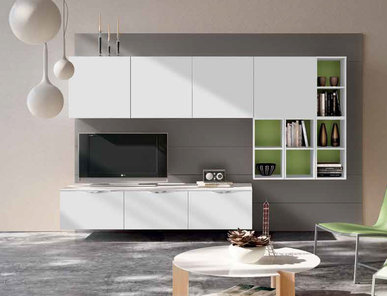 Итальянская мебель для ТВ Xoxo 02 фабрики SPAGNOL CUCINE