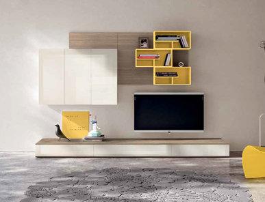 Итальянская мебель для ТВ Xoxo 03 фабрики SPAGNOL CUCINE