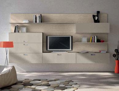 Итальянская мебель для ТВ Xoxo 04 фабрики SPAGNOL CUCINE