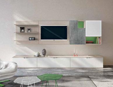 Итальянская мебель для ТВ Xoxo 05 фабрики SPAGNOL CUCINE