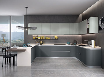 Итальянская кухня NEXA 03 фабрики CONCRETA