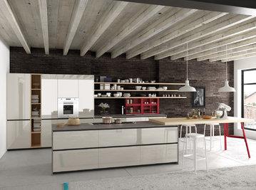 Итальянская кухня REEF VETRO 02 фабрики VALDESIGN