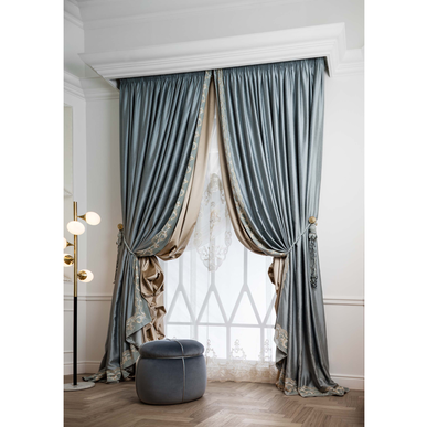 Итальянские шторы и тюль Versailles con Centrale фабрики Chicca Orlando