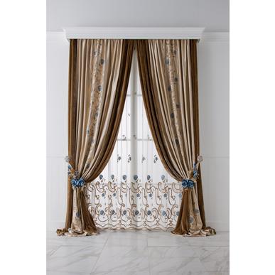 Итальянские шторы и тюль Rosae фабрики Chicca Orlando