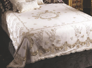 Итальянский тeкстиль для спален Caravaggio R-982-1 фабрики La Contessinа