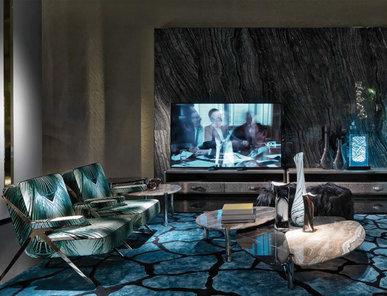Итальянская гостиная фабрики ROBERTO CAVALLI Композиция 01