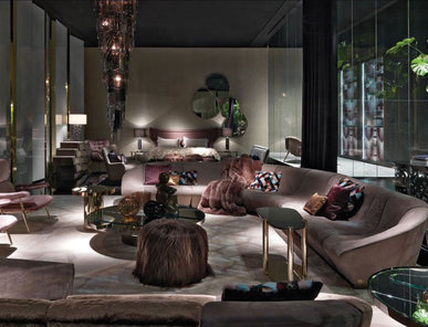 Итальянская мягкая мебель NASSAU фабрики ROBERTO CAVALLI