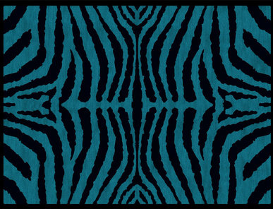 Итальянский ковер CAMERON - BLACK/TEAL фабрики ROBERTO CAVALLI