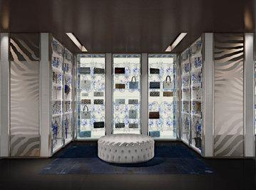 Итальянская гардеробная NARCISO фабрики ROBERTO CAVALLI Композиция 01