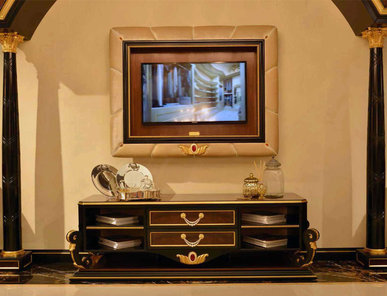 Итальянская мебель для ТВ CONRAD фабрики BRUNO ZAMPA
