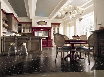 Итальянская кухня Red Rose фабрики Martini Mobili