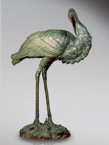 Итальянская бронзовая статуя Heron фабрики Fonderia Artistica Ruocco