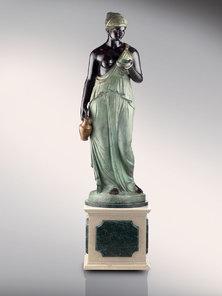 Итальянская бронзовая статуя Hebe фабрики Fonderia Artistica Ruocco