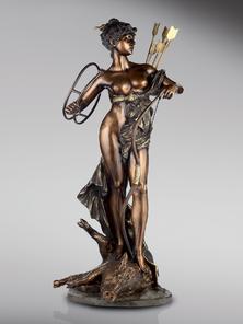 Итальянская бронзовая статуя Diana the huntress фабрики Fonderia Artistica Ruocco