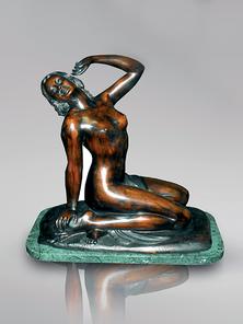 Итальянская бронзовая статуя Awakening sitting  фабрики Fonderia Artistica Ruocco