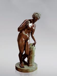 Итальянская бронзовая статуя Venus with apple фабрики Fonderia Artistica Ruocco
