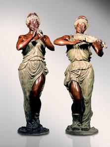 Итальянская бронзовая статуя Pair of musician Venuse фабрики Fonderia Artistica Ruocco