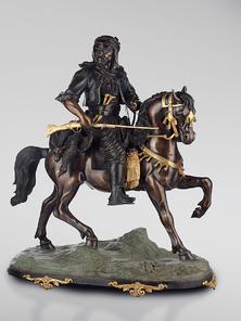 Итальянская бронзовая статуя Arabian horseman фабрики Fonderia Artistica Ruocco