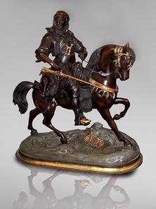 Итальянская бронзовая статуя Arabian horseman II фабрики Fonderia Artistica Ruocco