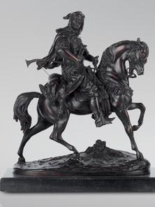 Итальянская бронзовая статуя Arabian horseman III фабрики Fonderia Artistica Ruocco