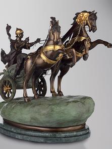 Итальянская бронзовая статуя Roman chariot I фабрики Fonderia Artistica Ruocco