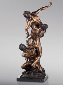 Итальянская бронзовая статуя The rape of the Sabine women фабрики Fonderia Artistica Ruocco