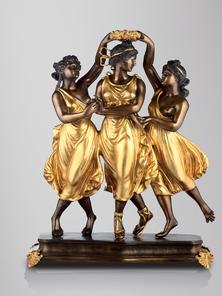 Итальянская бронзовая статуя Canova's dancing girls фабрики Fonderia Artistica Ruocco