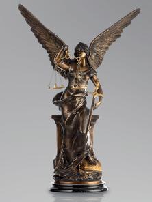 Итальянская бронзовая статуя The Justice фабрики Fonderia Artistica Ruocco