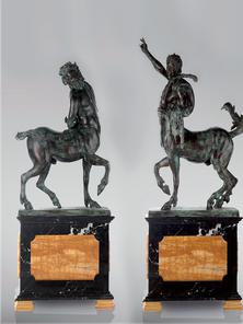 Итальянская бронзовая статуя Pair of Centaurs I фабрики Fonderia Artistica Ruocco