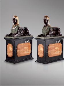 Итальянская бронзовая статуя Pair of Sphinxes фабрики Fonderia Artistica Ruocco