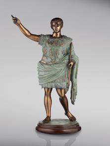 Итальянская бронзовая статуя Caesar Augustus фабрики Fonderia Artistica Ruocco