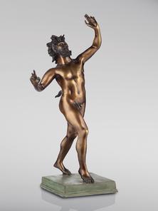 Итальянская бронзовая статуя Dancing Faun фабрики Fonderia Artistica Ruocco
