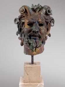 Итальянская бронзовая статуя Faun's head фабрики Fonderia Artistica Ruocco