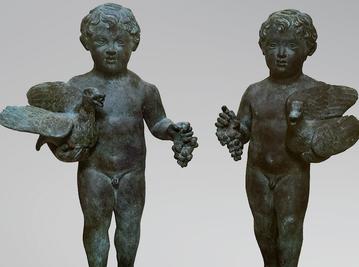 Итальянская бронзовая статуя Putti from the house of the Vettii at Pompeii фабрики Fonderia Artistica Ruocco