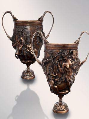 Итальянская бронзовая статуя Centaurs Cups фабрики Fonderia Artistica Ruocco