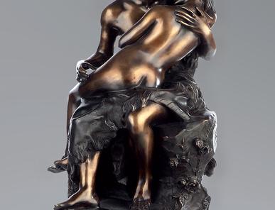 Итальянская бронзовая статуя The kiss фабрики Fonderia Artistica Ruocco