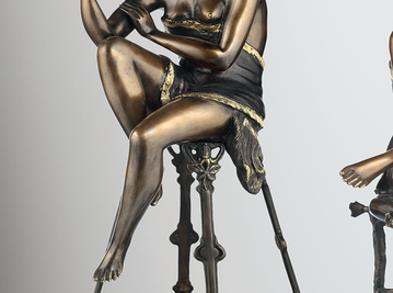 Итальянская бронзовая статуя Odalisque I фабрики Fonderia Artistica Ruocco