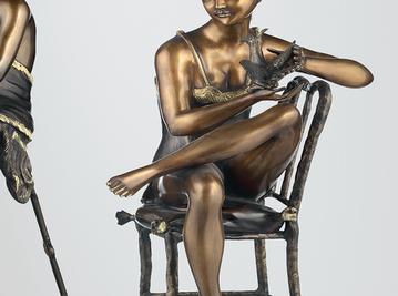 Итальянская бронзовая статуя Odalisque II фабрики Fonderia Artistica Ruocco