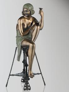 Итальянская бронзовая статуя Odalisque III фабрики Fonderia Artistica Ruocco